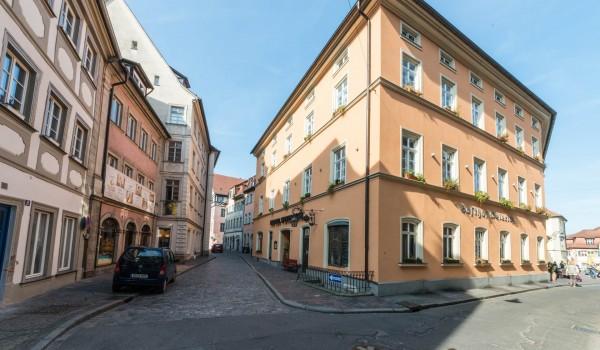 Hotel Aussenansicht im Zentrum von Bamberg